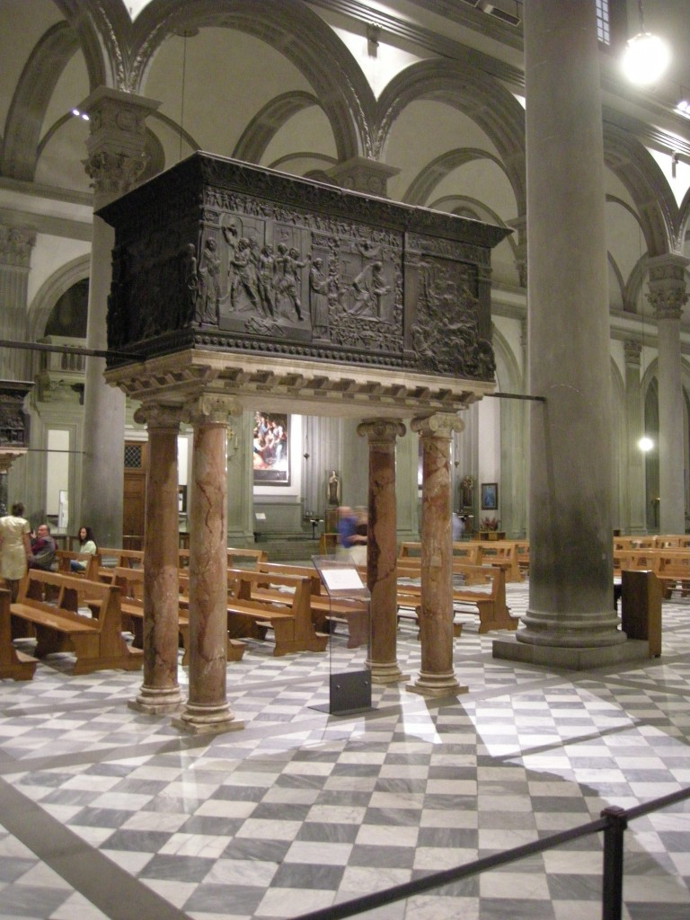 Pulpit by Donatello - Church of San Lorenzo