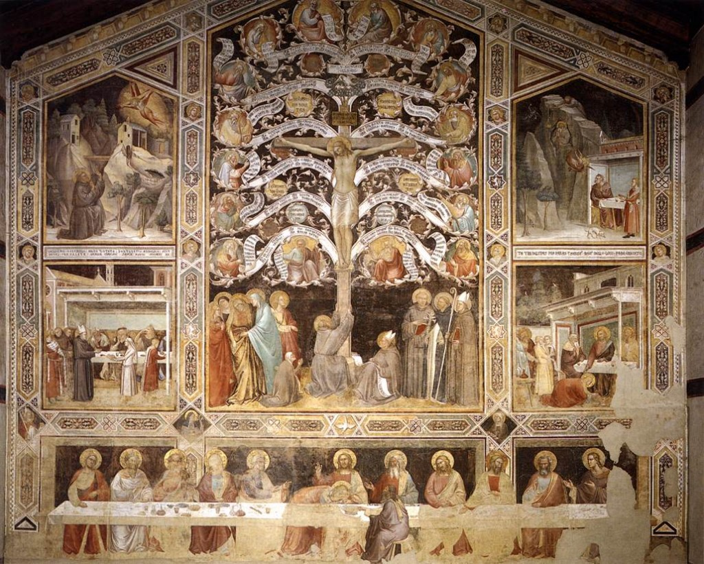 Refectory, Santa Croce Church - frescoes by Taddeo Gaddi