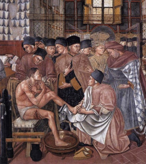 Care of the sick, Domenico di Bartolo