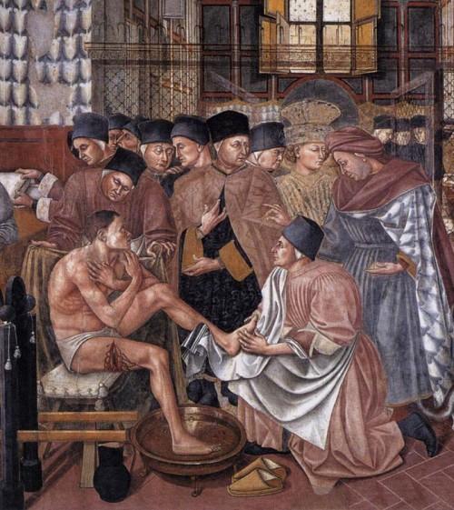 Care of the sick, Domenico di Bartolo