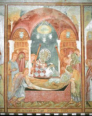 San Pietro a Grado, frescoes, details