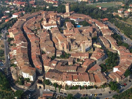 Lucignano from the sky
