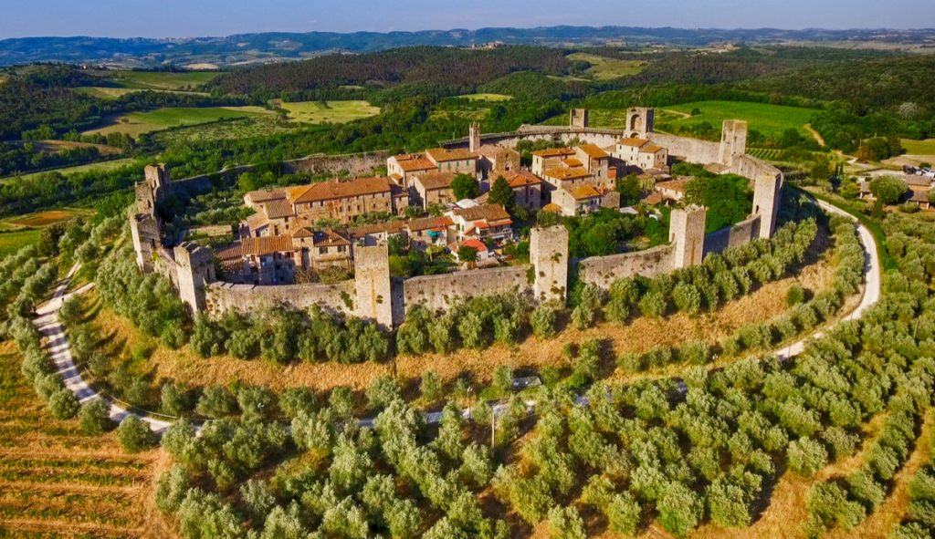 Italian Florence: Monteriggioni, A Medieval Walled Town In Tuscany