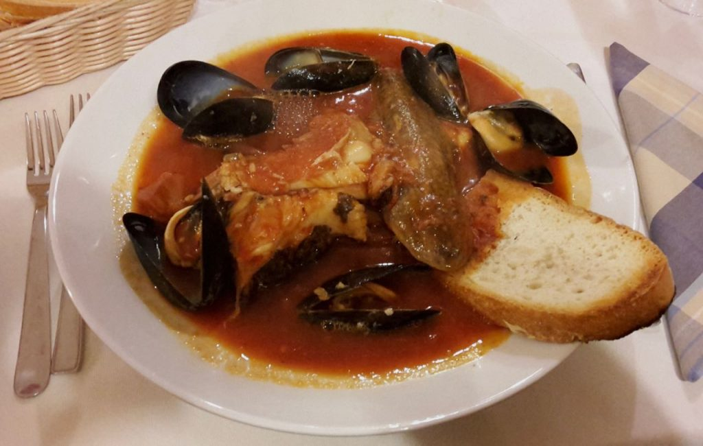 Cacciucco fish soup food