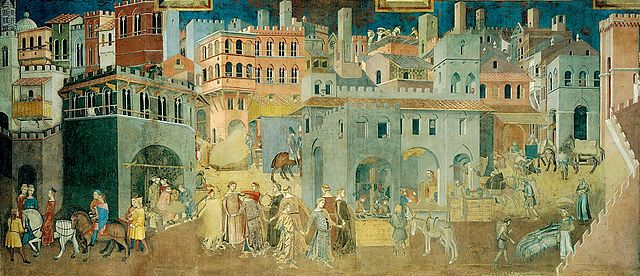 Allegory of Good and bad government siena frescoes